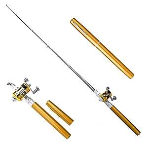 Portable Aluminum Alloy Telescopic Pocket Pen Shape Fishing Rods Reel Poles