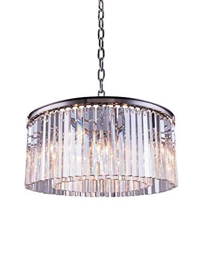 Urban Lights Sydney 8-Light 31.5 Pendant Lamp, Polished Nickel/Royal Cut Crystal