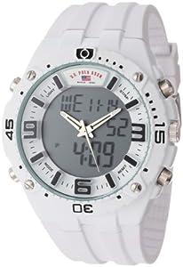 U.S. Polo Assn. Sport Men's US9280 White Analog-Digital Rubber Strap Watch