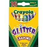 Crayola® - Glitter Crayons, 16 Colors/Box - Sold As 1 Set - Sparkling glitter colors.