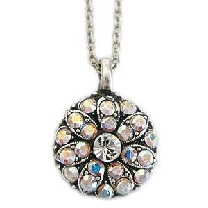 "Mariana Guardian Angel Swarovski Crystal Pendant Necklace, 19"" Crystal"