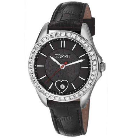 Esprit ES106232001 dolce vita love black Uhr Damenuhr Edelstahl Edelstahl 30m Analog Datum schwarz