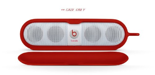 Brand New Beats By Dr. Dre | Reliable Protection Silicone Cover For Pill Speakers, Beats Pill Sleeve With Detacherble Magnetic Cover And Aluminum Ring (Red 905-00004-00)