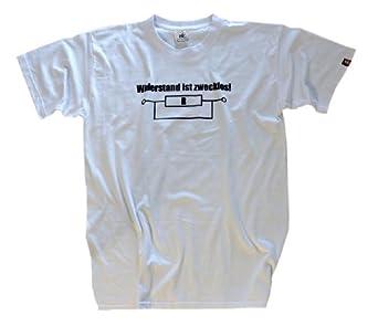 Shirtzshop Erwachsene T-Shirt Original Elektriker Widerstand ist Zwecklos, Weiß, XXXL, ss-shop-sv_elekwide-t-Weiss