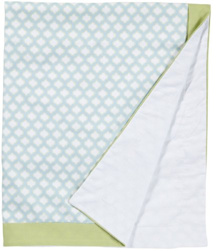 New Arrivals Sprout Crib Blanket- Ice Blue/ Green Tea