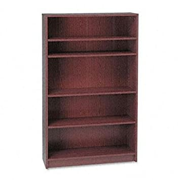 "Hon - 1870 Series Bookcase Five-Shelf 36W X 11-1/2D X 60-1/8H Mahogany ""Product Category: Office Furniture/Bookcases & Door Kits"""