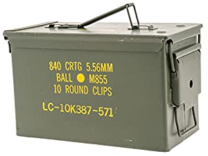50 Caliber M2A1 Military Ammo Can