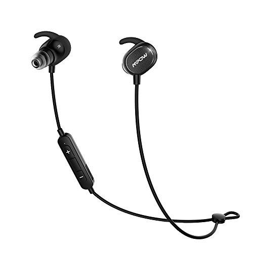 Mpow Dunmer スポーツイヤホン Bluetooth4.1ヘッドセット マイク内蔵 ハンズフリー 通話 AptX対応 iPhone&Android などに対応 IPX4防水仕様 ハンズフリー通話 CVC6.0 ノイズキャンセリング搭載技適認証済み18ケ月の保証 MP-BH035AB