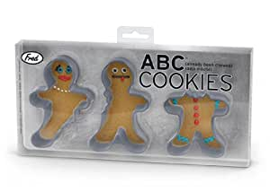 Fred & Friends ABC (Already Been Chewed) Cookie Cutters, Set of 3