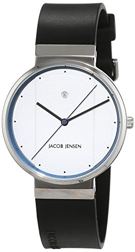 Jacob Jensen Unisex-reloj Jacob Jensen NEW Series Item NO, 750 analógico de cuarzo de caucho Jacob Jensen NEW Series Item NO, 750