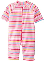 i play. Unisex-Baby Infant One Piece Sunsuit, Pink Multi Stripe, Small/6 Months