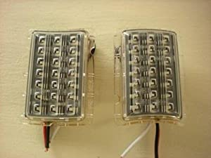 1940 Ford 21 LED Amber Turn Signal Parking Lights / Inserts In Headlight Rim