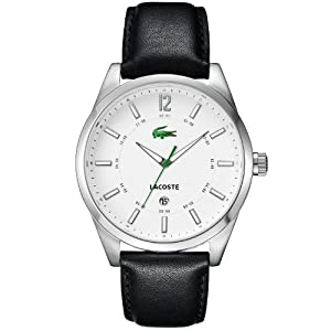 Amazon.com: Lacoste Men's 2010580 Montreal Watch Black Strap/White