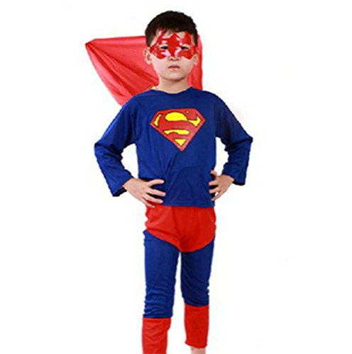 The Avengers Cosplay Costume Boys Superman Clothing Set Party Dress