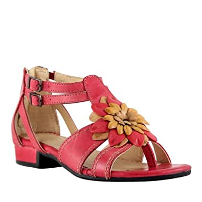 Bussola women 39 s lisboa flower buckle sandals for Bussola amazon
