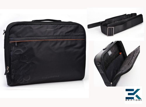 16-inch Laptop Dispatch-rider Bag fits Dell Latitude E5530 / E6520� Briefcase - Nefarious with HEARTS Design. Bonus Ekatomi television cleaner pad