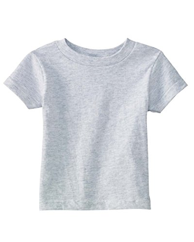 Rabbit Skins Infant 5.5 Oz. Short-Sleeve Jersey T-Shirt-12Mos (Ash) front-1028170
