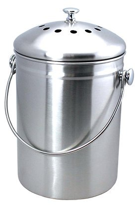 Epica Stainless Steel Compost Bin 1 Gallon
