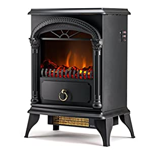 Hamilton 22 Inch Portable Free Standing 1500w Electric Fireplace Stove With