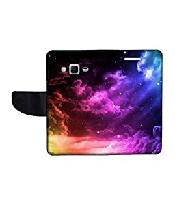 KolorEdge Printed Flip Cover For Samsung Galaxy Win 2 Multicolor - (1476-45KeMLogo11186SamWin2)