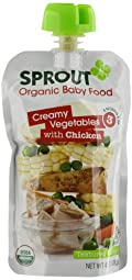 Sprout Stage 3 Organic Baby Food, Creamy Vegetables with Chicken, 4.5 Ounce (Pack of 5)