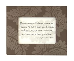 Promise Me - Christopher Robin Quote in 5 x 4 in. Painted Frame