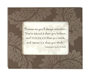 Amazon.com - Promise Me - Christopher Robin Quote in 5 x 4 in. Painted ...