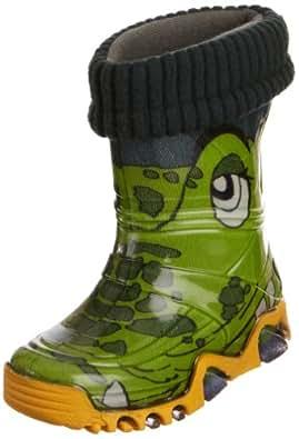 Toughees Warm Fleece-sock Croc Wellies Green Wellingtons Boot 029b 2 Uk Junior, 34/35 Eu