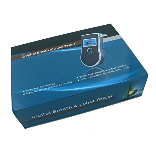 OBEST prefessional Numérique avec écran LCD Alcootests Testeur de l'alcool