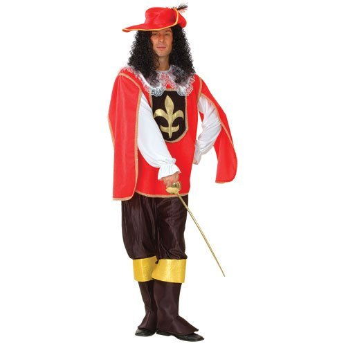 Wicked Costumes Red Musketeer Fancy Dress Halloween Costume Wicked L