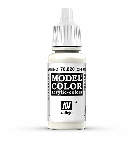 Vallejo White Model Color 1 Paint, 17ml