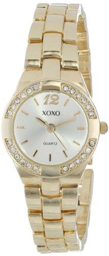 Xoxo Women'S Xo110 Silver Dial Gold-Tone Bracelet Watch