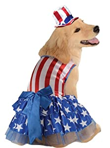 Rubies Costume 4th of July Collection Pet Costume, Large, Patriotic Pooch Girl