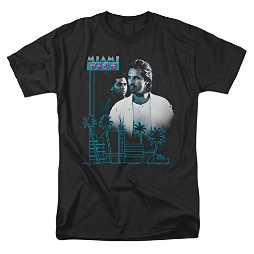 Miami Vice Men's Looking Out T-shirt Black - Medium