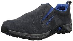 Merrell Jungle Moc Sport Outdoor Shoe (Little Kid/Big Kid), Grey/Blue, 1.5 W US Little Kid