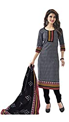 Sree Impex Women's Cotton Unstitched Dress Material (SI-CO-65_Grey_Free Size)