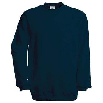 B&C - Sweatshirt à col rond - Homme (2XL - 135cm) (Bleu marine)