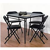 Cosco Comfort 5 Piece Card Table Set - Black