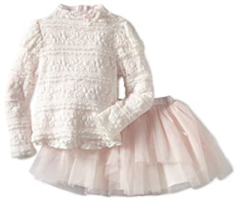 Amazon.com: Biscotti Little Girls' Lace Parfait Top And Skirt Set