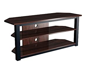 exp entertainment 55 inch flat panel plasma lcd hd tv stand media console center. Black Bedroom Furniture Sets. Home Design Ideas