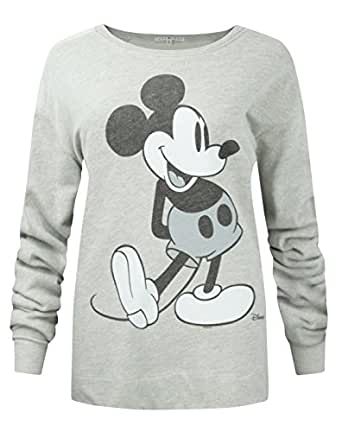 damen junk food clothing mickey mouse pullover xs. Black Bedroom Furniture Sets. Home Design Ideas