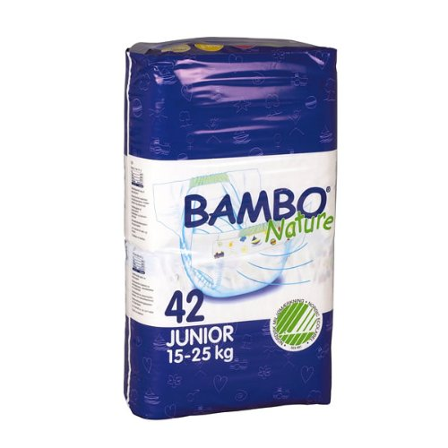 Abena Bambo Nature Premium Baby Diapers, Size 5, Junior, 42 Count (Pack of 3)