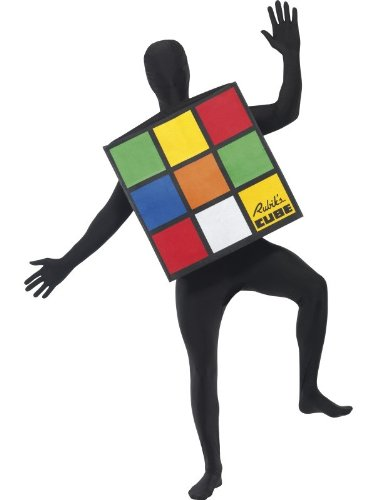 Smiffy's Rubik's Cube Unisex Costume. Based on the 80s Puzzle Toy