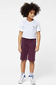 Boy's Fine Stripe Cotton Bermuda Short