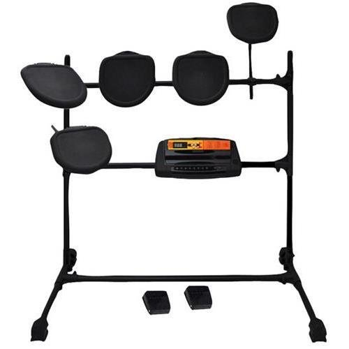 Pyle Electronic Ped03 Drum Set With 5 Pads, 2 Pedals, Natural Response Cymbals And Drums