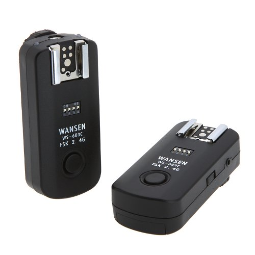 Andoer 16 Channels Ws-603C Wireless Flash Trigger Synchronized Shutter Release Remote Control Transceiver 2.4Ghz For Canon 650D 600D 60D 550D 500D 1000D 450D