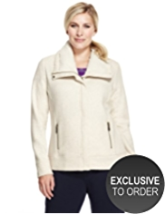 Plus Borg-Lined Supersoft Jacket