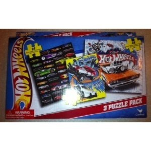 Hot Wheels 3 Puzzle Pack