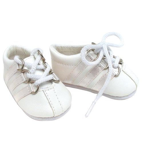 Sophia's White Leather Sneaker, Fits 18 Inch American Girl Dolls - 1