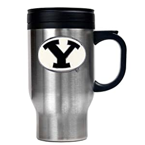 Buy Brigham Young Cougars 16-Ounce Stainless Steel Travel Mug by Great American Products